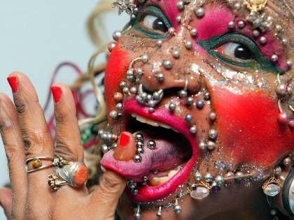 Most Pierced Woman Marries Balding Old Frump