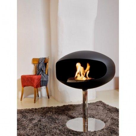 Pedestal Cocoon Fires Est Une Cheminee Bioethanol A Poser Au Sol Au Design Innovant Et Contemporai Cheminee A L Ethanol Cheminee Bioethanol Design Contemporain