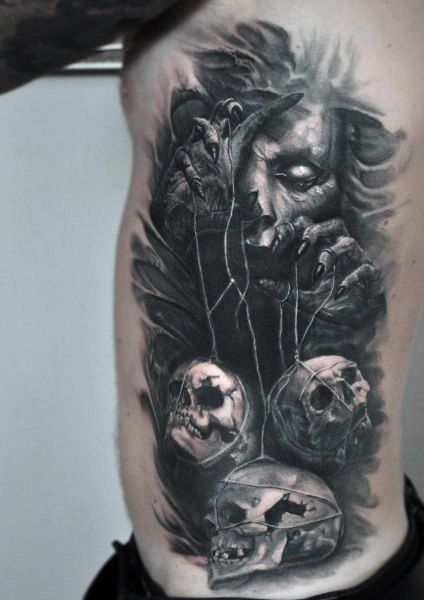 Top 51 Gothic Tattoo Ideas 2020 Inspiration Guide Scary Tattoos Gothic Tattoo Dark Art Tattoo