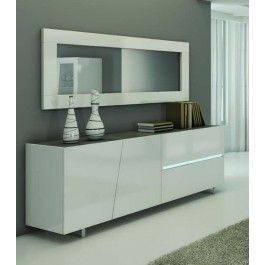 Madia Moderna Outlet.Madia Moderna Laccata Lucida Con Top Marmo Grigio Art 1645