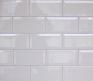 Wall Tiles Gloss White Bevel Subway Tile 150x75mm Ing Per Square Metre