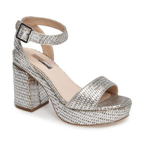 unique design info for arrives Women's Topshop Love Woven Platform Sandal (200 AED) ❤ liked on ...