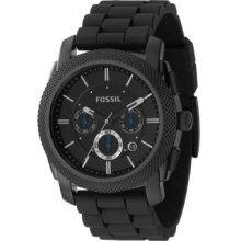 ecd18b87ba61 Fossil Chronograph Watch Black One Size  125