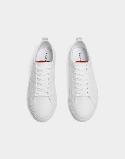 Basic White Trainers Pull Bear White Trainers White Trainers Men White Sneaker