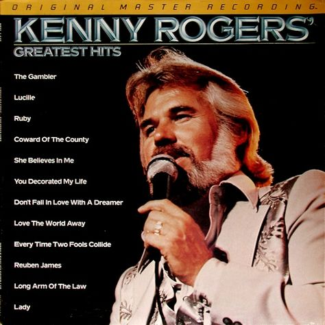 Mfsl 1 049 Greatest Hits Kenny Rogers Coward Of The County Greatest Hits Vinyl Record Album