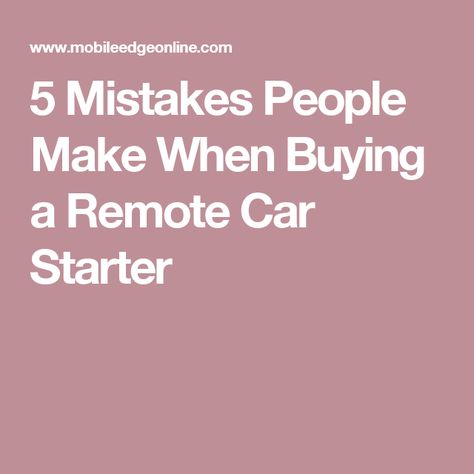 Remote Car Starter Estimate Request Form  Gifts For Me