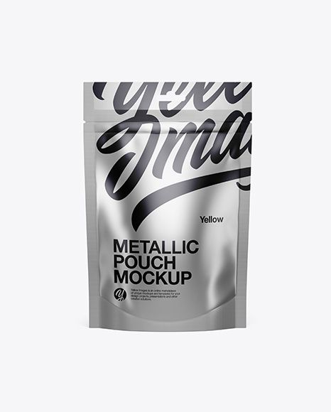 Download Metallic Stand Up Pouch Mockup Front View In Pouch Mockups On Yellow Images Object Mockups Mockup Free Psd Mockup Free Download Mockup Psd