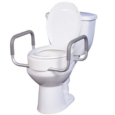 Premium Seat Rizer With Removable Arms Standard Toilet
