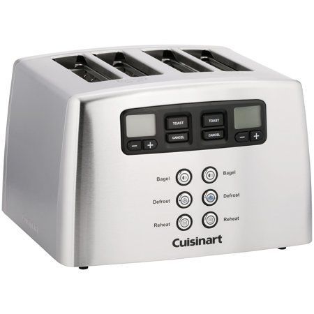 Cuisinart Countdown Lever Less 4 Slice Toaster In 2020 Toaster Cuisinart Appliances Kitchen Stainless Steel