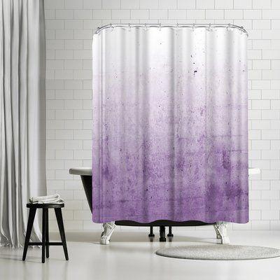 East Urban Home Emanuela Carratoni Radiant Orchid Concrete Single Shower Curtain Purple Shower Curtain Shower Curtain Concrete Shower
