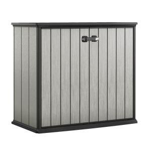 Keter Patio Store 4 6 Ft X 2 6 Ft X 3 11 Ft Resin Horizontal Storage Shed 234404 The Home Depot Patio Storage Outdoor Storage Sheds Patio Store