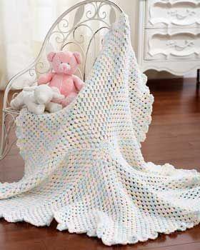 Marshmallow Baby Blanket   AllFreeCrochetAfghanPatterns.com