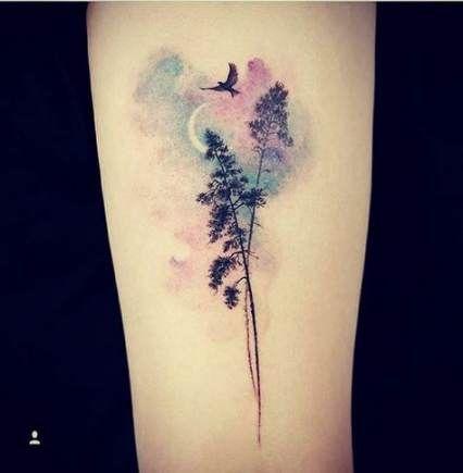 28 Ideas For Tattoo Tree Watercolor Birds Watercolor Bird Tattoo Neck Tattoo Nature Tattoos