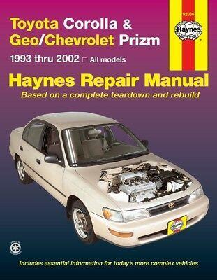 Advertisement Ebay Repair Manual Base Haynes 92036 Toyota Corolla Repair Manuals Toyota