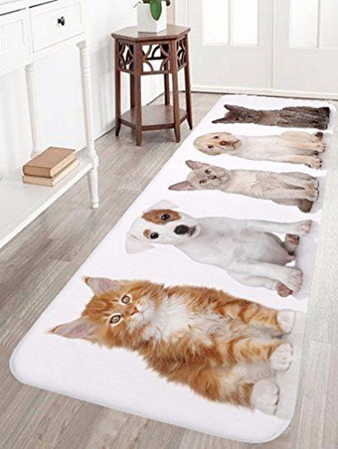Cat Bath Rug A Monamour Cute Pets Dogs Cats Animal Lover Theme