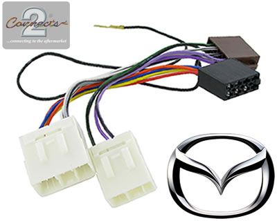 Mazda Bongo car stereo radio Wiring Harness adapter ISO loom