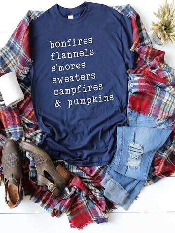 All our Favs for Fall on a super soft Bella Canvas tee. Perfectly paired with a flannel and distressed denim. combed and ring spun cotton tee DTG printed ink please allow days for production and delivery Vinyl Shirts, Tee Shirts, Custom Shirts, Flannel Shirts, Monogram Shirts, Cute Tshirts, Funny Shirts, Football Mom Shirts, Woman Shirt