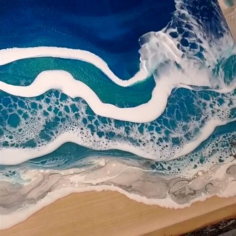 Make me think of what it might be like along some Mediterranean Sea in Italy, France or perhaps Greece. Epoxy resin pigment is available on Amazon with promo code:DECORROM. Follow us for more daily inspiration. All credit to jdessartwork