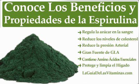 Propiedades Y Beneficios De La Espirulina Healthy Tips Health Blog Health And Nutrition