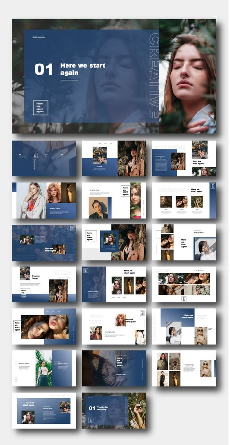 2 in 1 Chic & Creative Fashion Template – Original and High Quality PowerPoint Templates