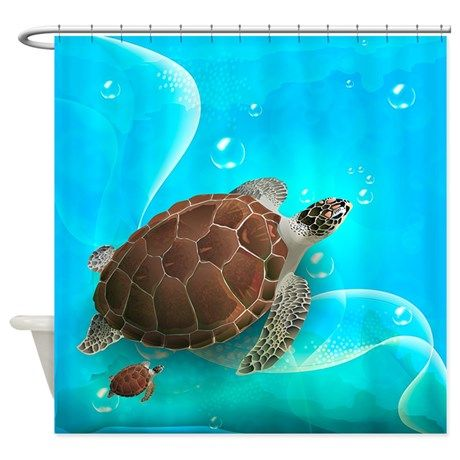 Cute Sea Turtles Shower Curtain By Daecu With Images Sea