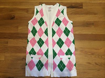 Girls Gymboree Pink Green Argyle Sweater Vest Smart Girls Rule 10 ...