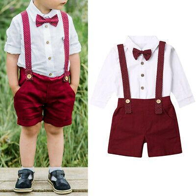 2pcs Kids Baby clothes boys clothes outfits shirt+pants party outfits gentleman