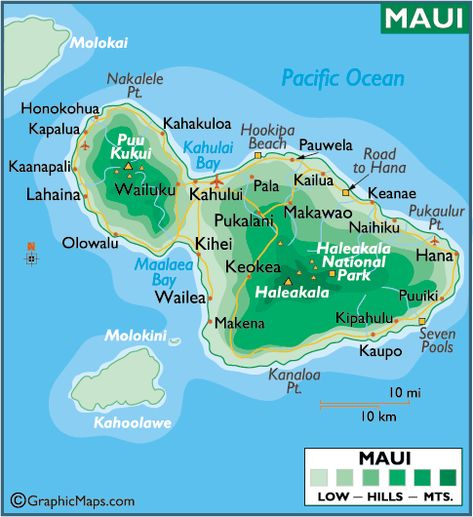 Maui Maps printable | Maps > MAUI LARGE COLOR MAP