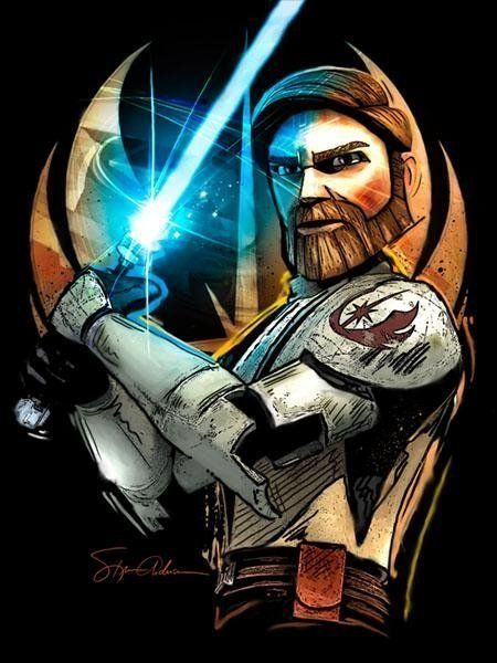 Obi Wan Kenobi Starwarsfanart Com Star Wars Star Wars Art Starwarsfanart Starwars Starwarsart Sta Star Wars Art Star Wars Fan Art Star Wars Painting