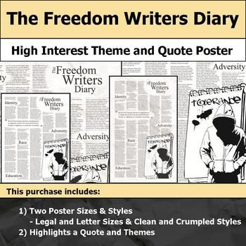 The Freedom Writers Diary Visual Theme And Quote Poster For Bulletin Boards Quote Posters Freedom Writers Workbook Cover