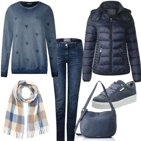 vendite calde migliori offerte su nuovi prodotti Look per tutti i giorni sui toni del blu. Scarpe basse e jeans ...