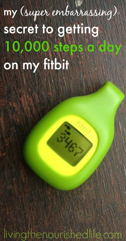 (VIDEO) Fitbit review: my SUPER EMBARRASSING secret to getting 10,000 steps a day on my Fitbit - from livingthenourishedlife.com