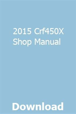 2015 Crf450x Shop Manual Manual Clymer How To Make Drawing