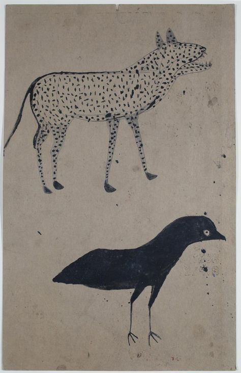 Spotted Dog and Black Bird