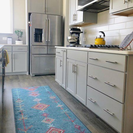 Floral Medallion Yellow Grey Rug Washable Area Rugs Kitchen Design Small Grey Rugs
