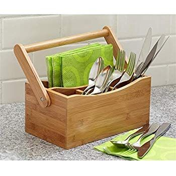T/&G Woodware Cutlery Holder in Hevea Wood for use with Folding Plate Rack 10091