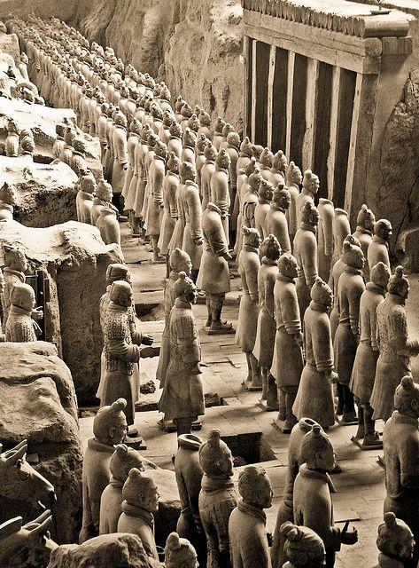 Six types of soldiers were found among China's great terracotta army. QIN SHI HUANGDI'S TOMB | Sculptures of Any Kind 1... | Pinterest | Terracotta ar…