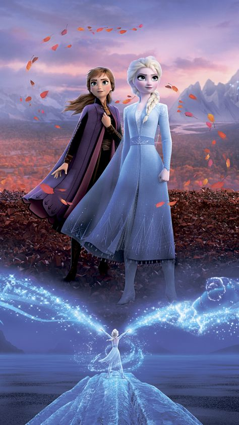Frozen 2, royal sisters, movie, poster, 2160x3840 wallpaper