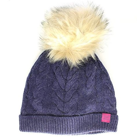 86d3f04a5369e Amazon.co.uk Customer Reviews  Joules Ladies Kizzy Cable Knit Bobble Winter Hat  Navy