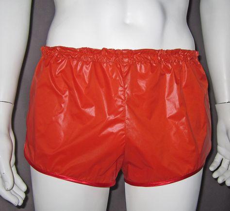 shorts shiny nylon | Retro Sprinter Shorts Of Ultra Thin Shiny Nylon For Men…