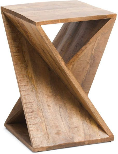 Twisted Mango Wood Accent Table Home T J Maxx Wood Accent Table Wood Accents Mango Wood