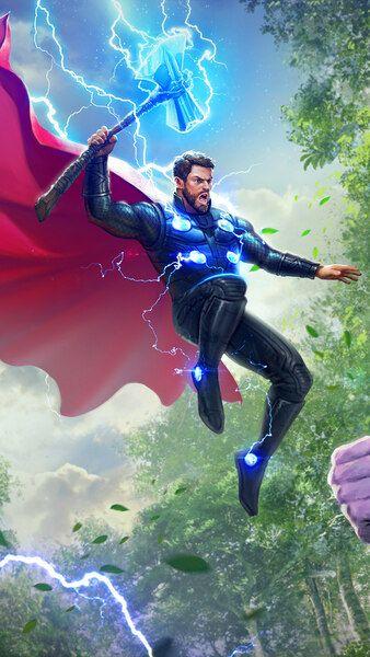 Thor Vs Thanos Avengers 4k Hd Mobile Smartphone And Pc Desktop Laptop Wallpaper 3840x2160 1920x1080 Thor Vs Thanos Marvel Comics Wallpaper Thor Wallpaper