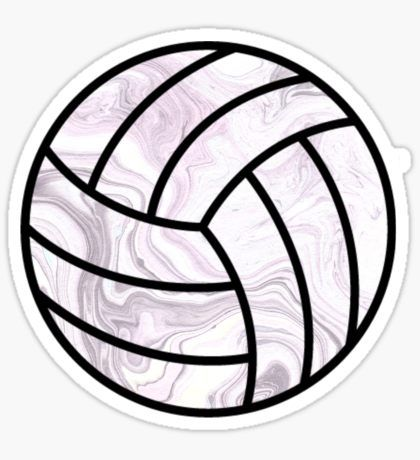 Volleyball Stickers Stickers Volleyball Wallpaper Black And White Stickers Volleyball Backgrounds
