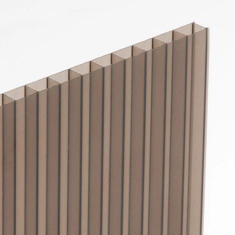 Plaque Polycarbonate Alvéolaire Bronze Relief L200 X L100