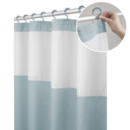 Maytex Smart Curtain Hendrix View Fabric Shower Curtain With
