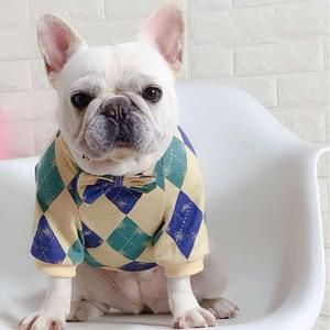 Warm Dog Sweater With Bow Tie For French Bulldog Bulldog Puppies