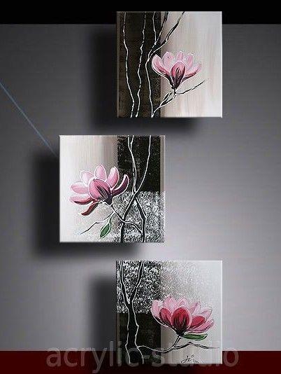 Orquídeas   Split painting in 2019   Acrylic art, Painting, Art