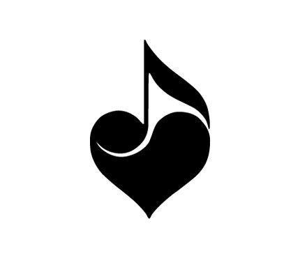 Corazon Musical Dibujos Musicales Tatuajes Musicales Logotipo