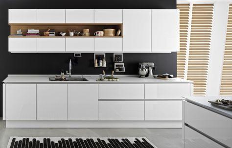 Bildergebnis für küche weiß ohne griffe | Küche und ...