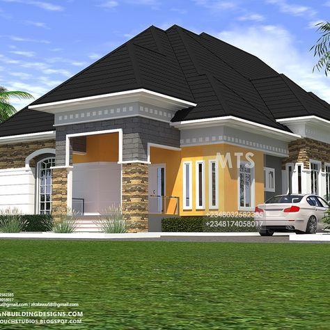Architecture Nigerianbuildingdesigns Home Masterstouchstudios Nigeria House Housestyle In 2020 Modern Bungalow House Plans Modern Bungalow House Bungalow Design